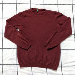 United Colors Of Benetton Burgundy Sweater